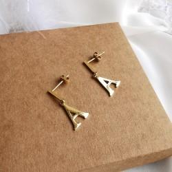 Kolczyki z literką Złote...