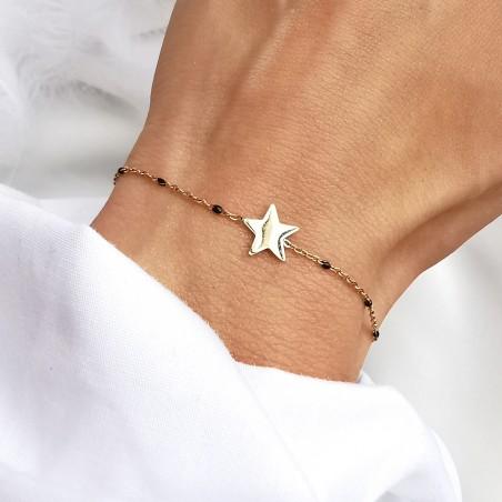 Bransoletka złota gwiazda Stal szlachetna 316l Biżuteria stalowa Bead Me