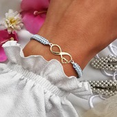 Kolejne cudowne zamówienie 🤍🤍🤍 Złoto z błękitem wygląda cudownie 🤍🤍🤍 Co myślicie? 👍👍👍 #bransoletka #bransoletki #celebrytka #nieskończoność #infinity #biżuteria #srebro #srebro925 #nieskonczonosc #makrama #srebrnabiżuteria #silverjewelry #bizuteriapersonalizowana #biżuteriahandmade #modnedodatki #modnakobieta #beautygirl #fashionblogger #złoto #bransoletkacelebrytka #rękodzieło #polishhandmade #poznan